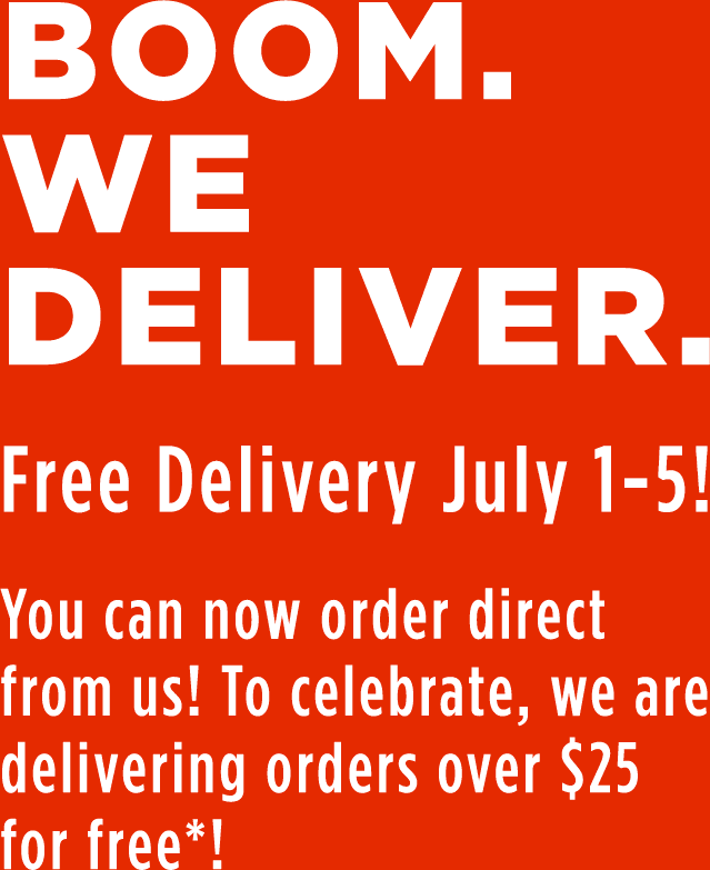 It's free delivery week! Get your summer vibes delivered July 20 - 26 for free!* Only at order.tropicalsmoothiecafe.com.