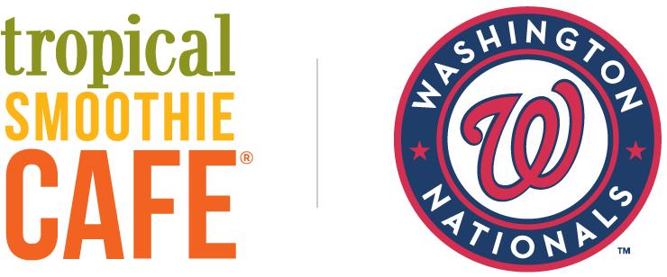 Tropical Smoothie Cafe and Washington Nationals logos.