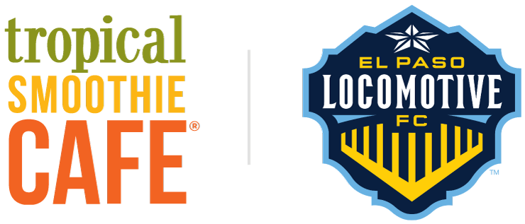 Tropical Smoothie Cafe and El Paso Locomotive FC logos.